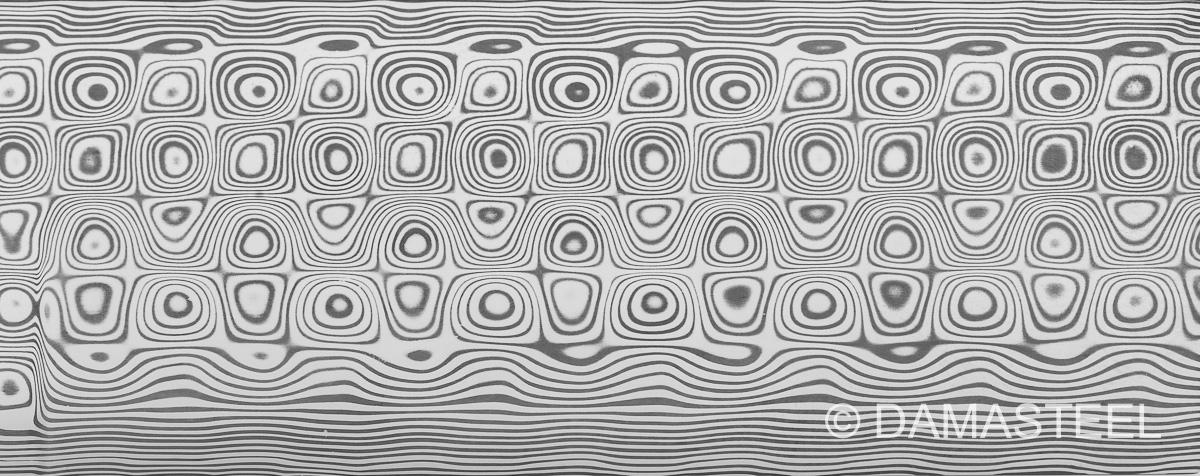 Damasteel Rose pattern