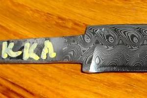 Knife Blade, Hakkapella Damasteel