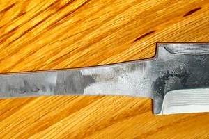 Knife Blade, Suminagashi
